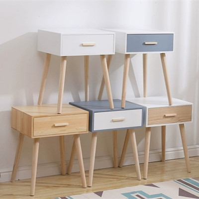 Bedside table Nordic solid wood simple modern multifunctional bedroom net red ins wind mini white economic promotion