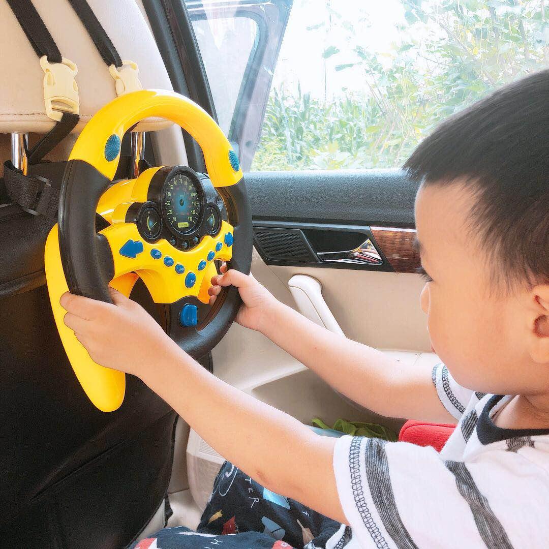 抖音网红同款仿真模拟器副驾驶小假方向盘玩具车载儿童益智女朋友