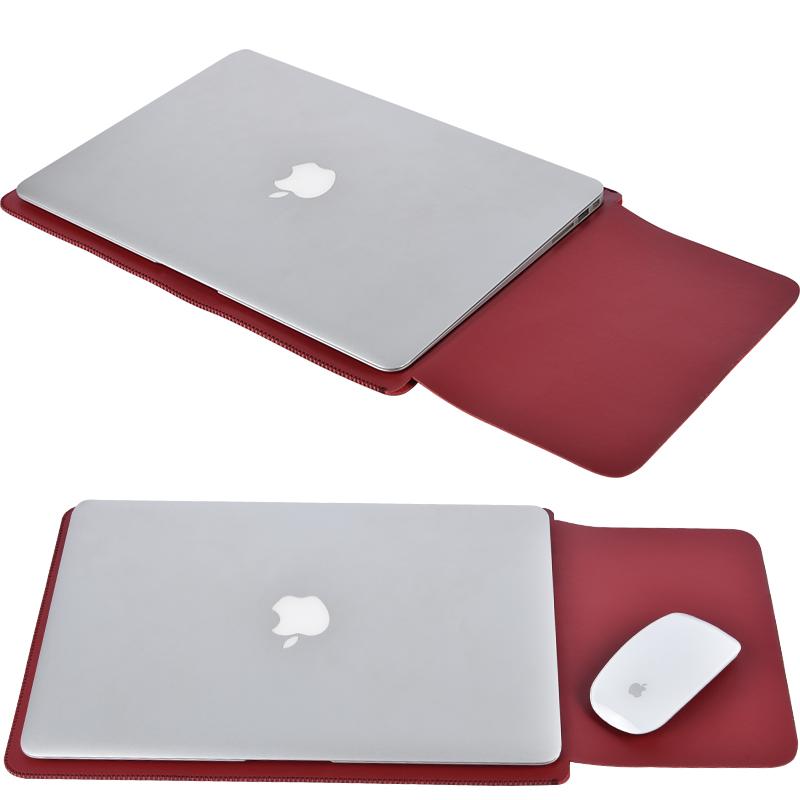蘋果電腦包macbook12內膽包air13.3mac13筆記本11寸pro15保護套14英寸皮套公文包男小清新可愛女簡約便攜時尚