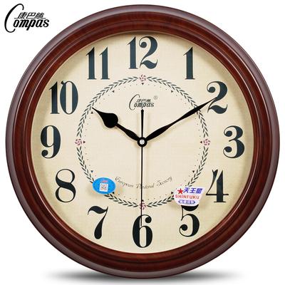 康巴丝欧式静音复古挂钟 客厅卧室钟表现代时钟挂表石英钟表座钟
