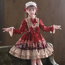 女童连衣裙秋冬加绒儿童公主裙子