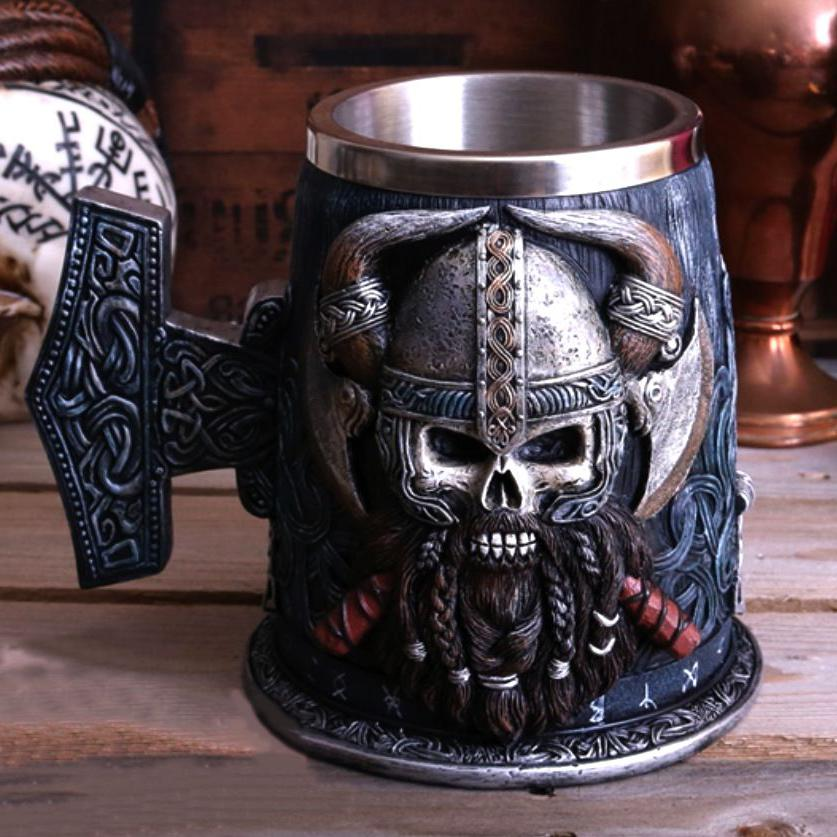 Game of power medieval vintage wine glass Viking beer cup creative skull personality water cup
