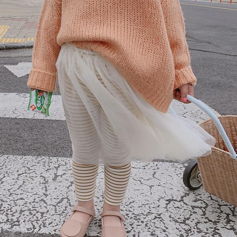 10-21新券女童裙裤2019春秋女宝宝假两件裤裙韩版洋气小女孩打底裤长裤子潮