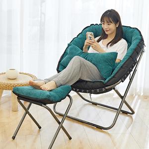 懒人沙发单人卧室小沙发客厅阳台休闲靠椅孕妇哺乳喂奶椅折叠躺椅