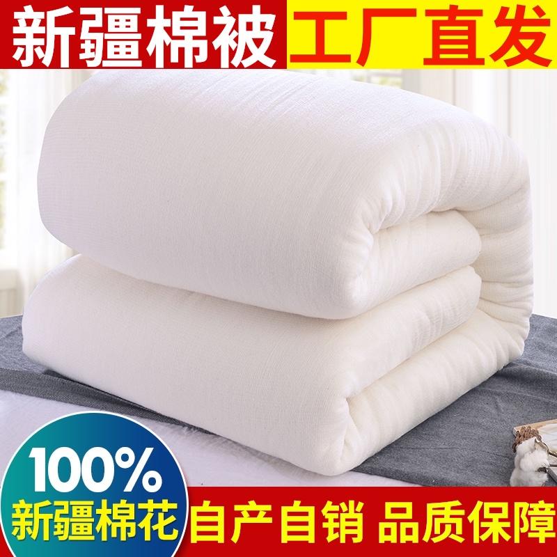 新疆棉被纯棉花被子冬被加厚保暖春秋全棉被芯棉絮床垫被褥子棉胎