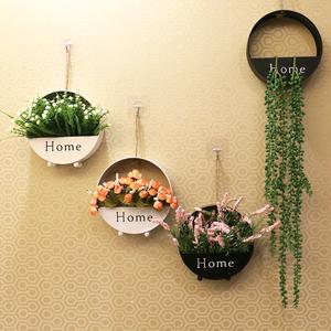 壁饰墙壁装饰家居饰品北欧铁艺客厅卧室创意墙上花盆壁挂墙饰挂饰