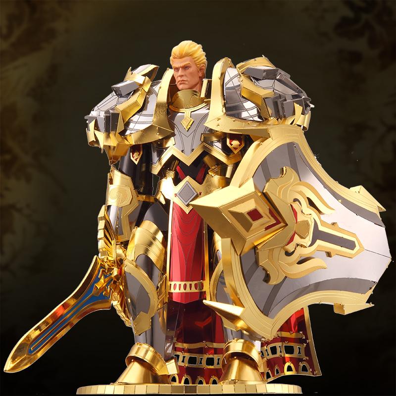 历史低价198限一个 王者亚瑟荣耀登场3D立体金属拼图DIY拼装模型