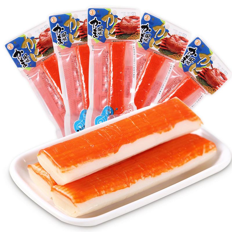 日本本土版北海道蟹柳鲜甜蟹肉棒手可即食拌饭拌粥45g 15条