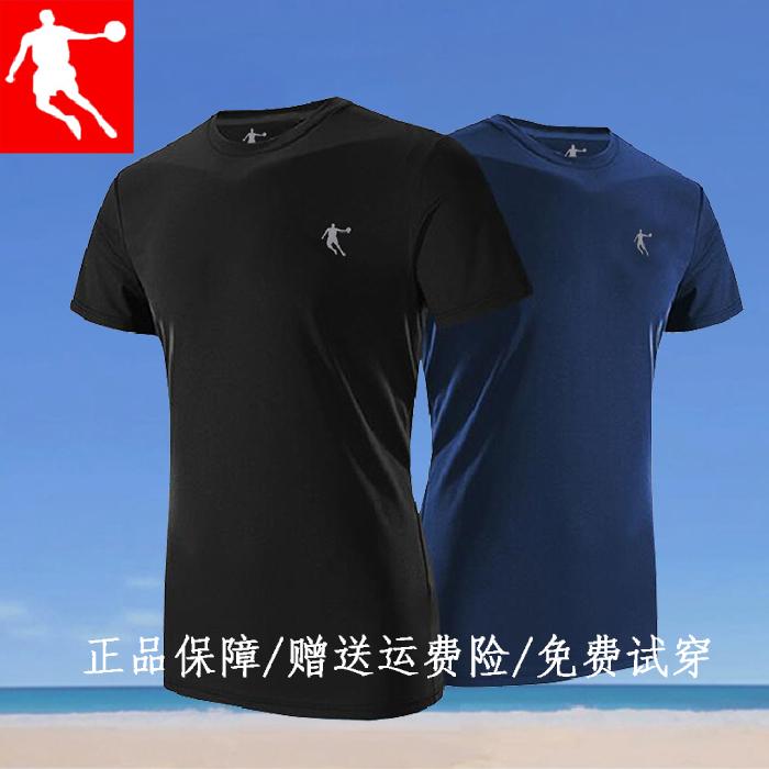 热销30件需要用券乔丹短袖男2019夏季新款纯棉t恤