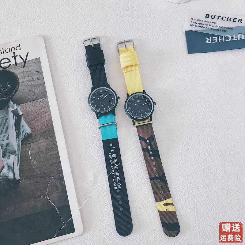 British retro concept watch simple trend youth boys and girls junior high school students canvas belt Art College