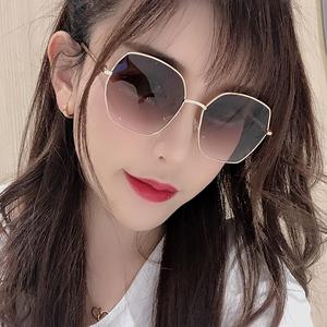 墨镜女夏2021新款圆脸太阳眼镜大脸显瘦近视韩版潮街拍防紫外线