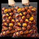 2袋栗子熟即食新鲜甘栗仁油栗仁休闲零食坚果干果 开口板栗150g