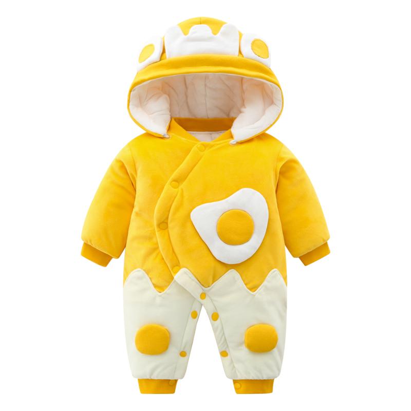 新生婴儿儿衣服秋冬套装过年冬季女宝宝连体衣外出抱衣男拜年冬装