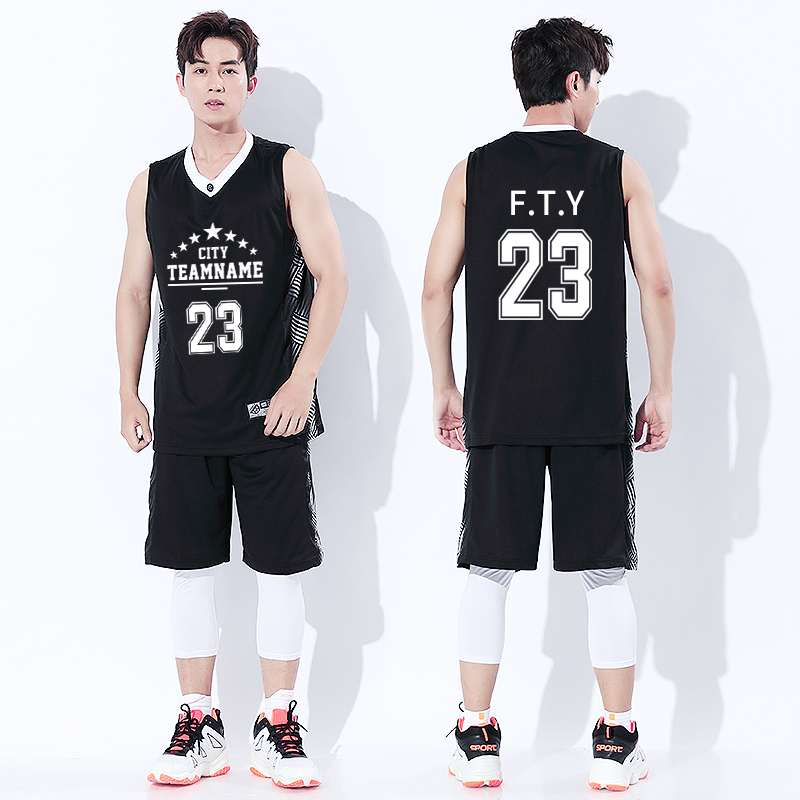 High end mens basketball suit custom printed sports training suit quick drying breathable sleeveless vest Jersey