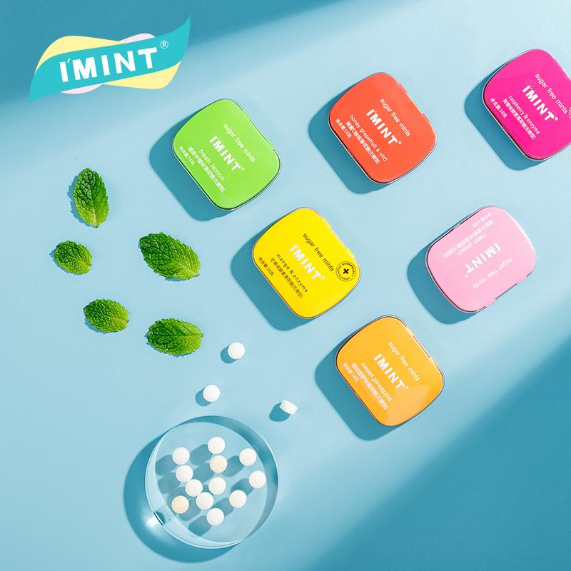 6盒装IMINT无糖薄荷糖清口香糖果口气清新亲嘴润喉糖网红零食y