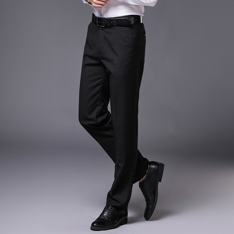Spring and summer new style trousers mens business trousers slim fitting straight tube business suit trousers office white collar mens trousers