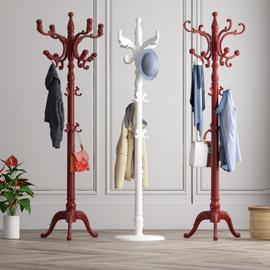 欧式挂衣架落地卧室内实木衣帽架立杆式简约现代家用衣服架包架子