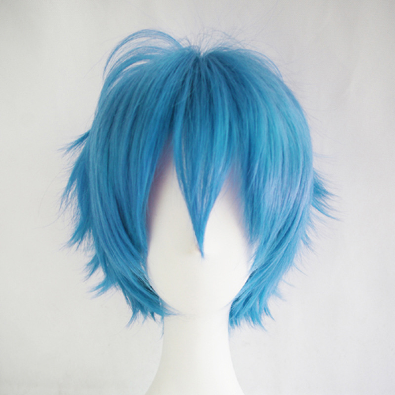 Cosplay Wig Mens short straight hair cos original home style color anti warping role play