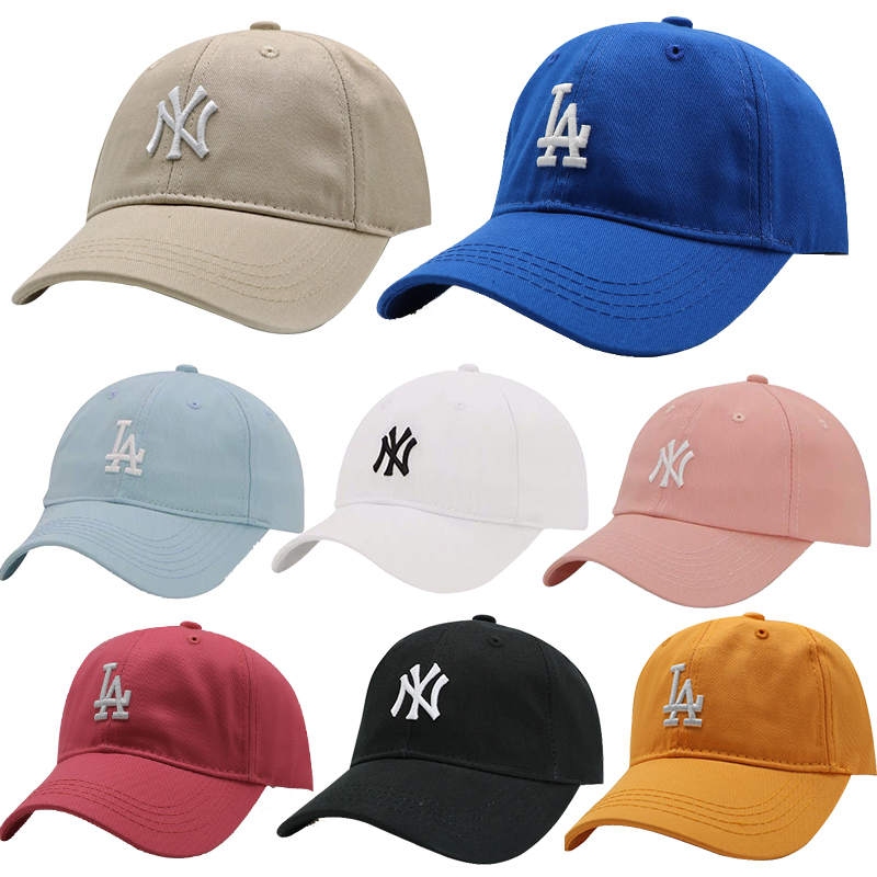 儿童男LA鸭舌帽夏季防晒宝宝遮阳帽韩版时尚百搭潮ny帽子女棒球帽(非品牌)