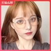 网红方框防蓝光辐射眼镜男潮护眼近视眼睛框无度数平面平光眼镜女