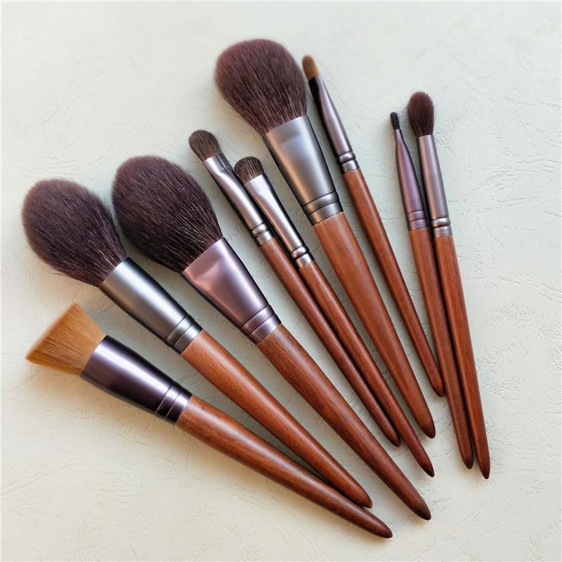 Animal hair 5 makeup brush set powder powder brush red blush brush foundation brush eye shadow brush beginner wool brush