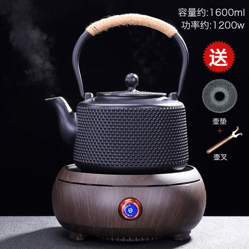 铁壶铸铁煮茶壶家用简约电陶炉烧水壶电热炉煮茶器煮茶炉套装 q5