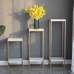 北欧花架子铁艺金属轻奢简约现代客厅室内花盆架绿萝落地置物花架