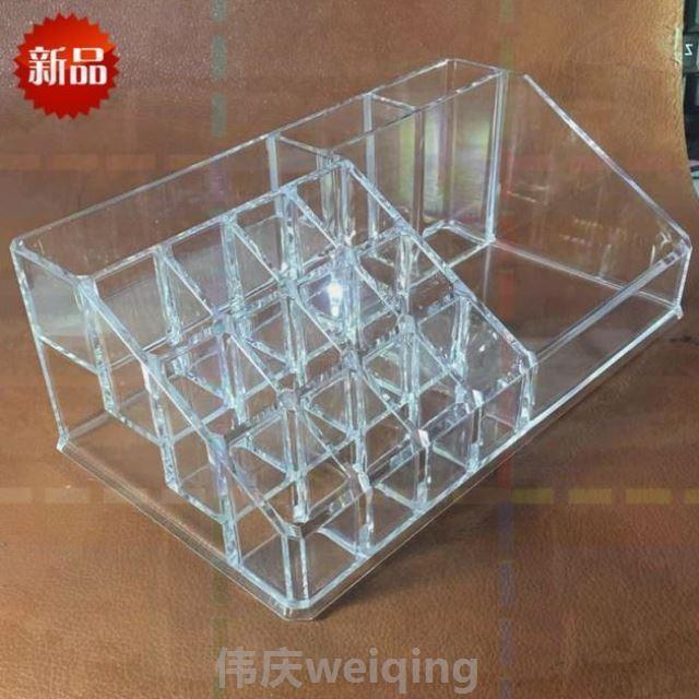 收纳盒透明展示盒口红架指甲彩妆口粉口红化妆香水收纳甲油盒