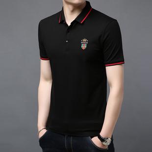 美国苹果夏季短袖t恤男名牌男装p0lo衫纯棉体桖有带领子土丅polo