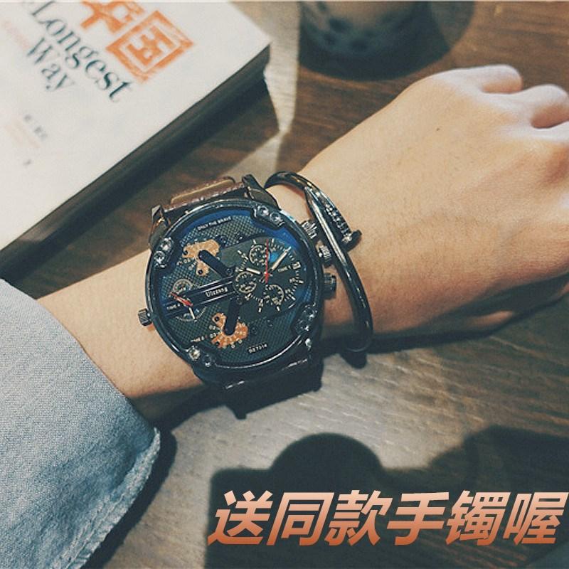 大表盘时尚欧美潮牌大气快手网红同款mc天佑潮男学生蒸汽朋克手表