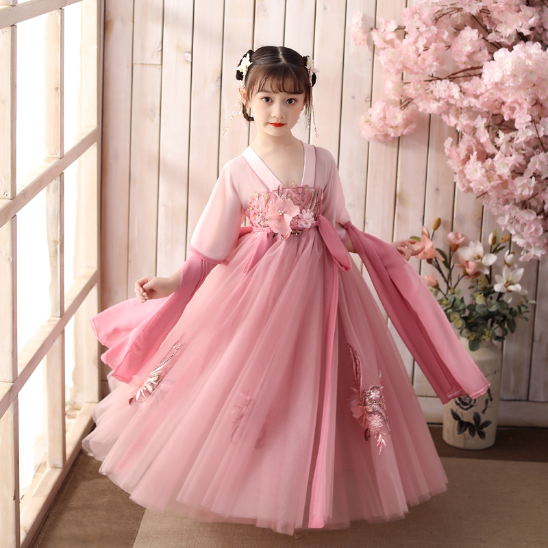 Children's Hanfu super immortal new Chinese style children's clothing baby Ru skirt girl's ancient dress FAIRY DRESS ancient summer dress