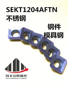 面铣刀片SEKT1204AFTN 铣刀片1204 钢件 铸件 不锈钢通用替代LT30