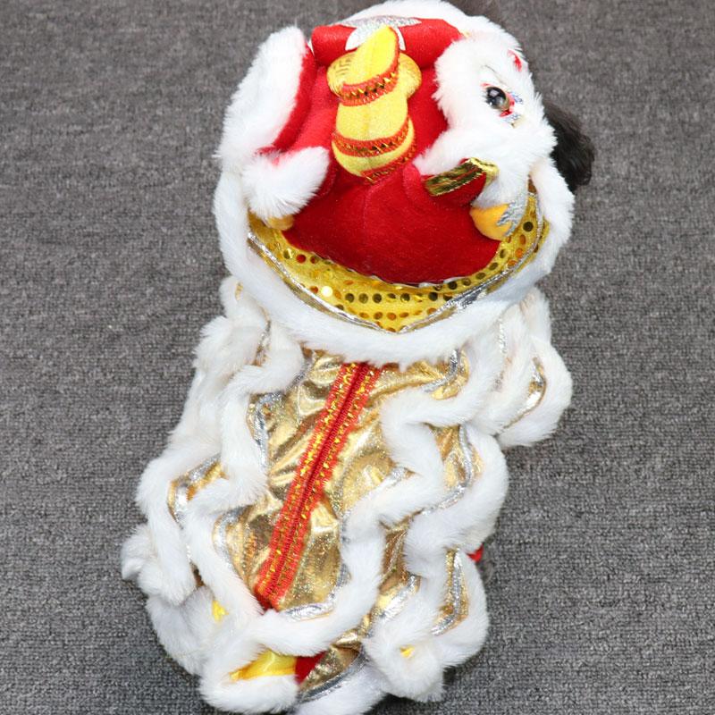 网红抖音同款狗狗衣服猫咪舞狮服泰迪搞笑搞怪喜庆网红宠物服装