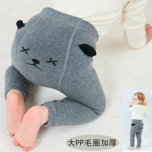 男女寶寶打底褲秋冬加厚保暖大PP兒童連褲襪1-3-5歲小童嬰兒襪子