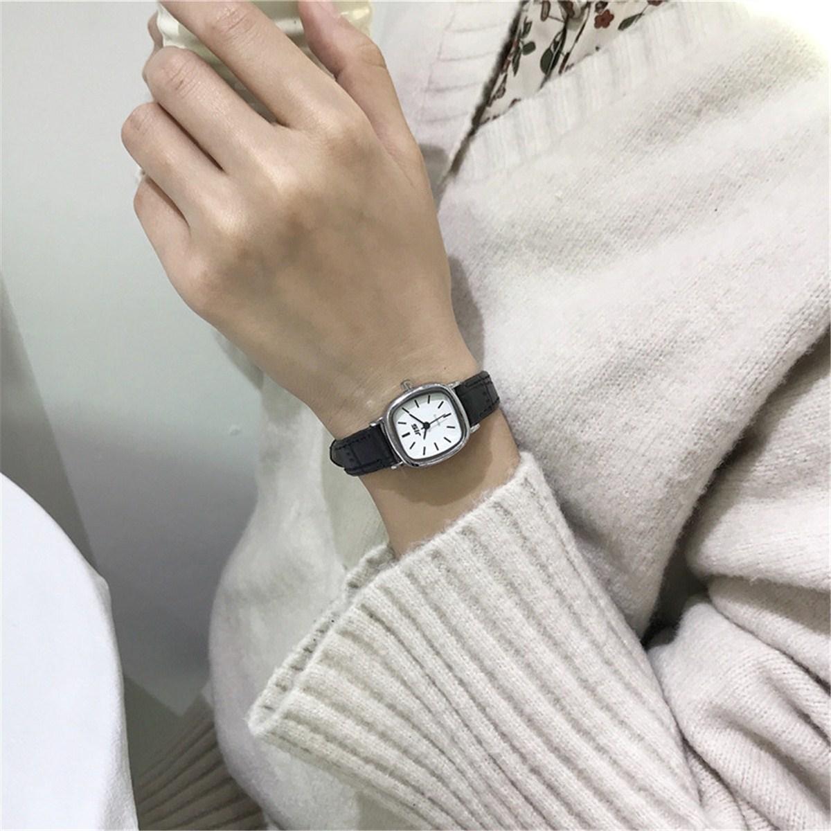 森女学院風文芸腕時計女子学生韓版シンプルファッションulzing復古スタイルガールカップル