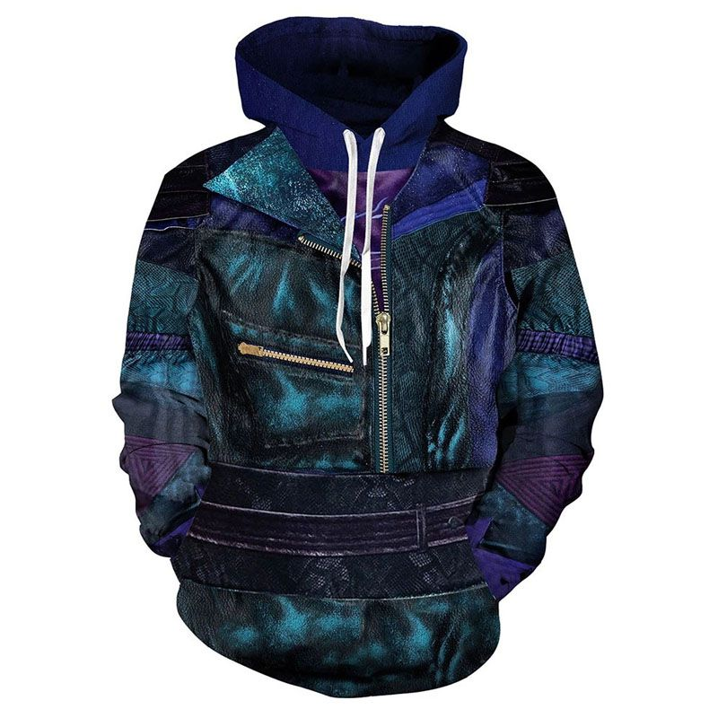 3D printed sweater Cosplay performance clothes large zipper cardigan top