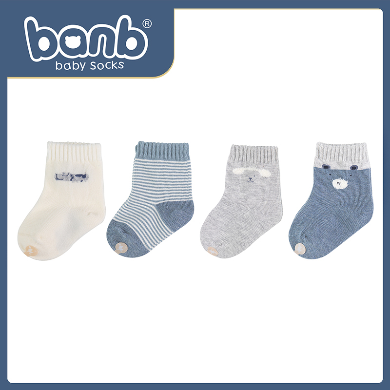 Newborn socks spring and autumn winter cotton boneless summer thin newborn boneless anti kicking off 0-1 year old 3