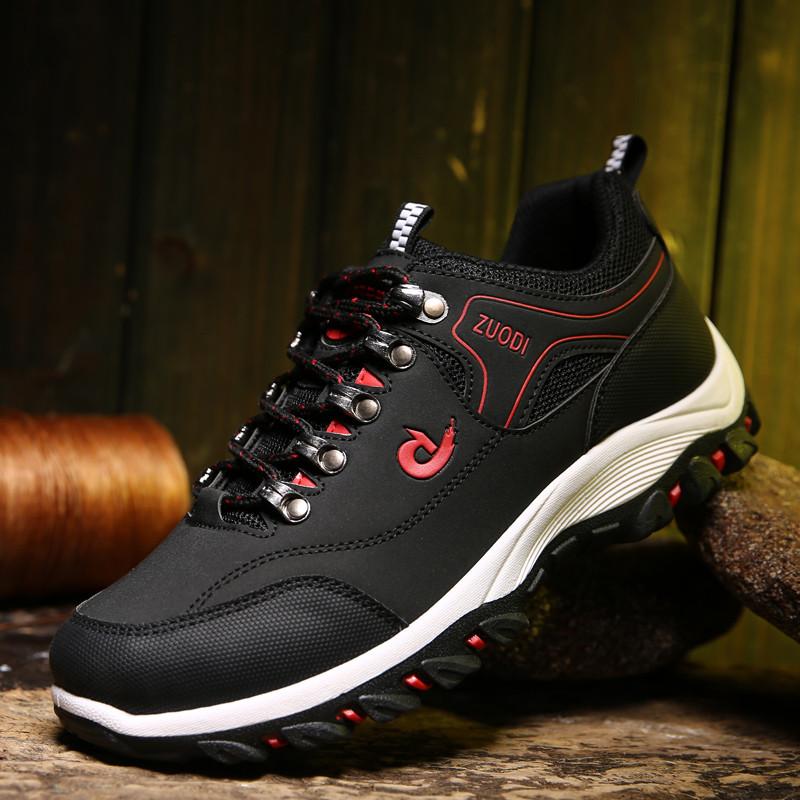 春秋季中老年运动鞋男士透气登山鞋旅游防滑软底爸爸鞋加大码男鞋