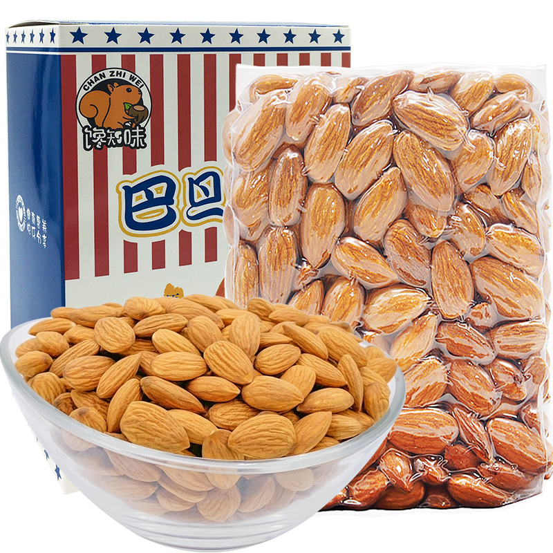 Almond nuts imported from the United States Batam raw Batam bulk 500g cooked almond original Batan