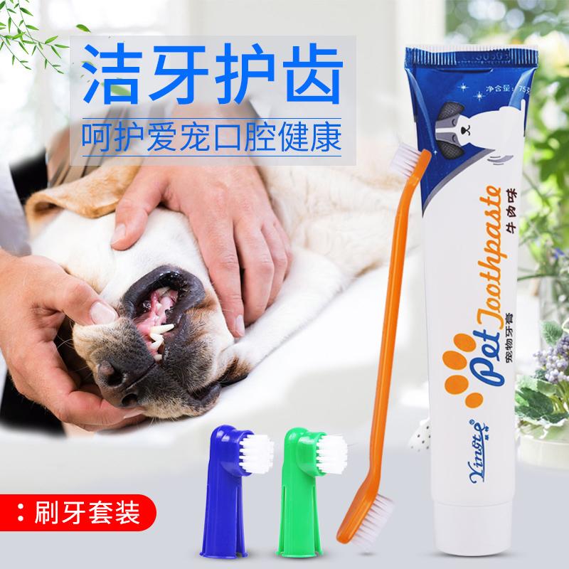 狗狗牙刷牙膏套装刷牙猫狗除口臭用品泰迪宠物牙齿洁牙可食用猫咪