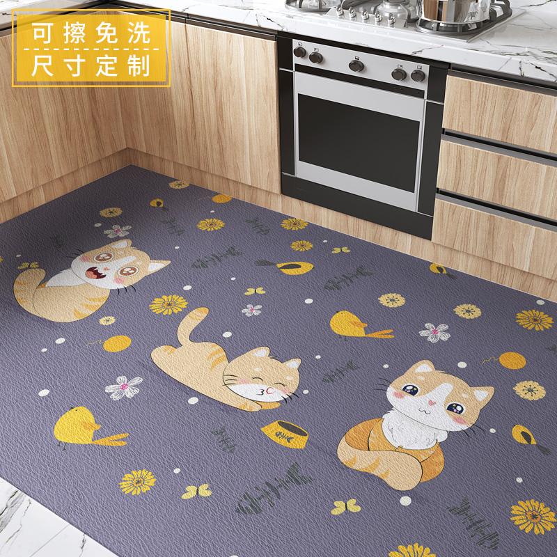 厨房满铺可擦洗免洗pvc防水进门垫评价好不好