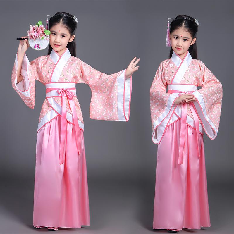 11月14日最新优惠儿童古装仙女装唐装女童曲裾汉服