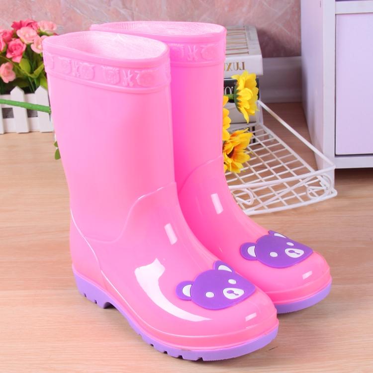 儿童雨鞋男童女童宝宝雨靴防滑小童公主防水学生水靴卡通小孩水鞋,可领取3元天猫优惠券