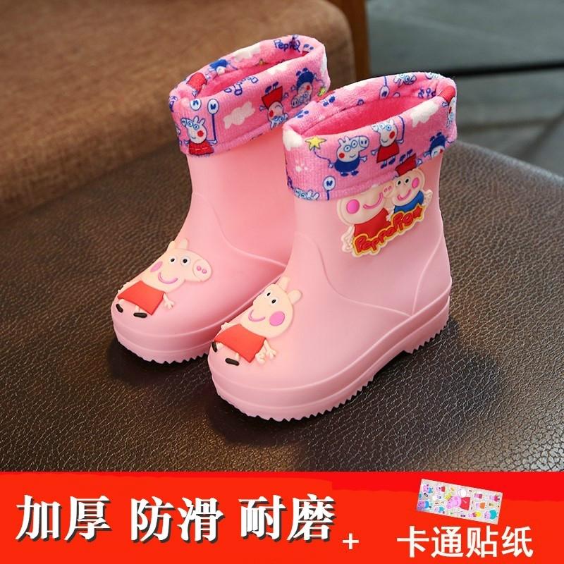 1-3岁幼儿园防滑底婴幼儿童水鞋4-6岁男童短筒雨靴女宝宝雨鞋小童,可领取3元天猫优惠券
