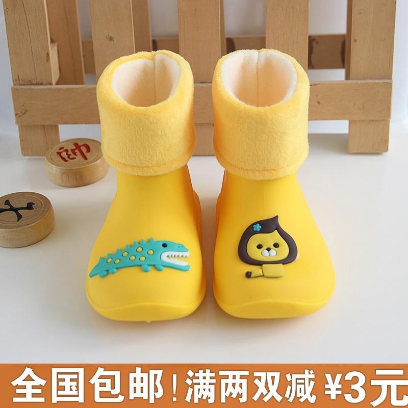 春夏宝宝儿童雨鞋男女童加绒雨靴子1-2-3岁防滑水鞋小童塑料胶鞋,可领取3元天猫优惠券