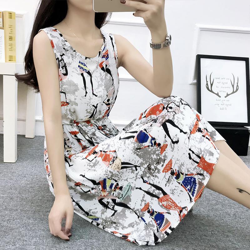 券后45.86元2019夏装新款棉绸新潮年轻连衣裙