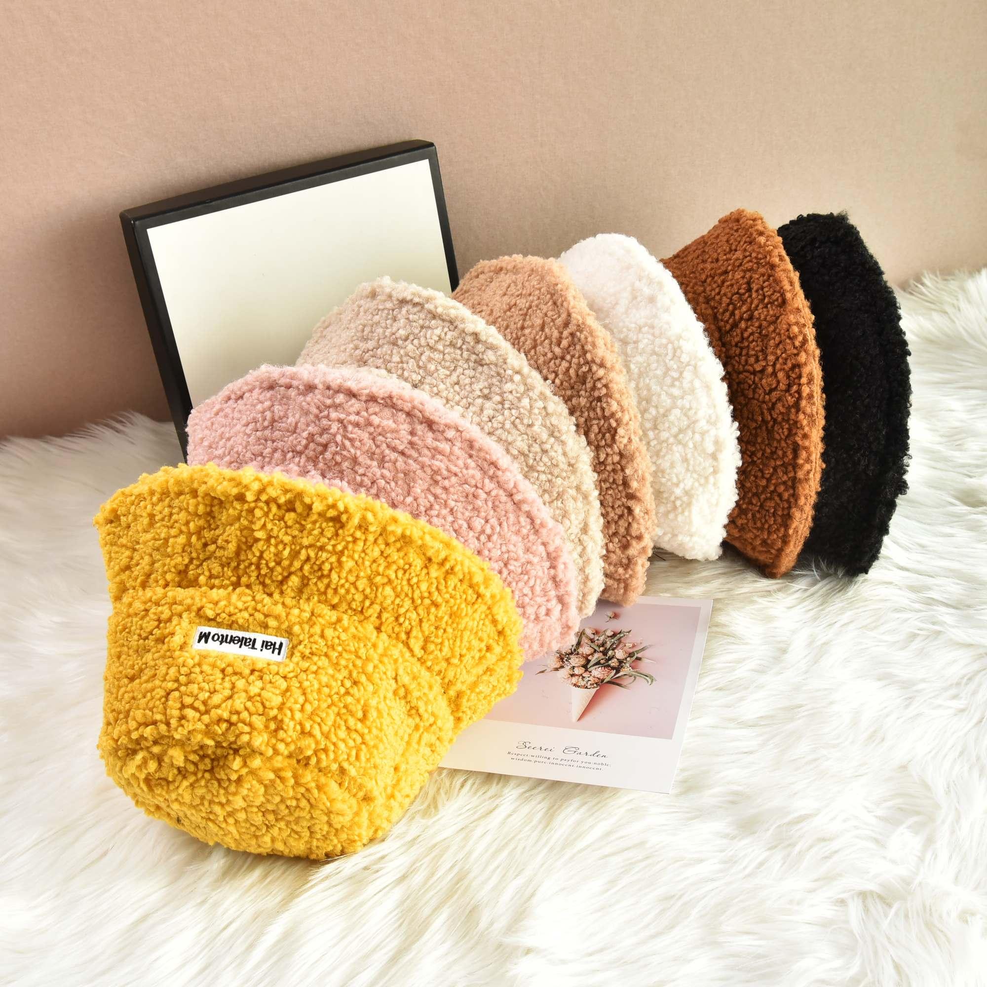 帽子女韩版学生秋冬季新款羊羔毛保暖渔夫帽baby明星同款帽子盆帽图片