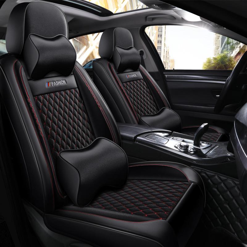 丰田汉兰达雅力士威驰花冠四季通用全新皮质全包围座套汽车坐垫