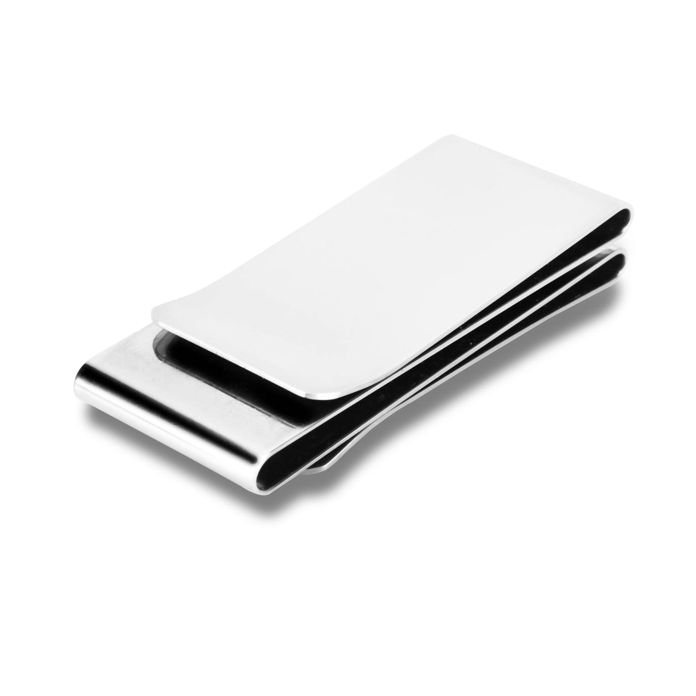 三位一体不锈钢双面钱夹欧式双面零钱夹钞票夹创意礼品金属零钱包