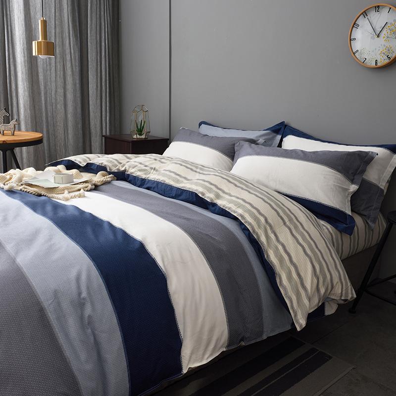 北欧风床上四件套全棉纯棉1.8米床秋冬1.5床单被套学生宿舍三件套限1000张券